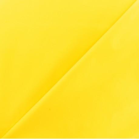 Tissu enduit spécial ciré uni - jaune x 10cm