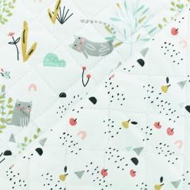 Tissu Oeko-tex matelassé Madcha- blanc x 10cm