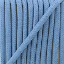 Braided cord 8 mm - cerulean blue Amana x 1m