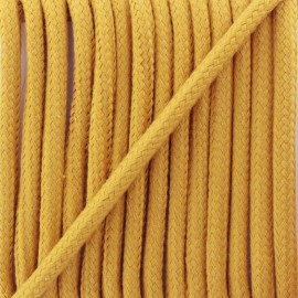 Braided cord 8 mm - mustard yellow Amana x 1m