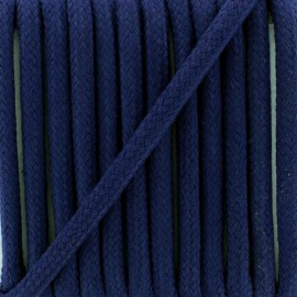 Cordon tressé 8 mm Amana  - bleu marine x 1m