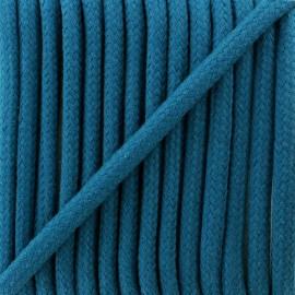 Cordon tressé 8 mm Amana  - bleu pétrole x 1m