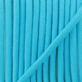 Braided cord 8 mm - cyan Amana x 1m