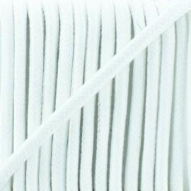 Cordon tressé 8 mm Amana  - blanc x 1m