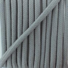 Cordon tressé 8 mm Amana  - gris x 1m