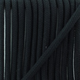 Braided cord 8 mm - black Amana x 1m