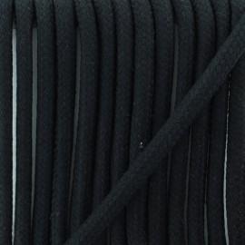 Cordon tressé 8 mm Amana  - noir x 1m