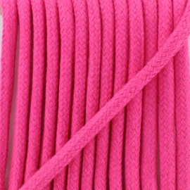 Braided cord 8 mm - fuchsia Amana x 1m