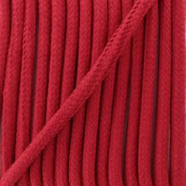 Cordon tressé 8 mm Amana - rouge carmin x 1m