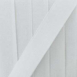 Twill ribbon n°10, 23.5 cm - white