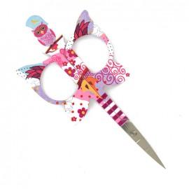 Ciseaux à broder Bohin Hibou 11 cm - rose