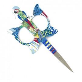 Ciseaux à broder Bohin Perroquet 11 cm - bleu