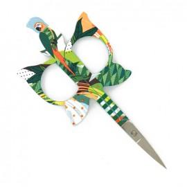 Ciseaux à broder Bohin Perroquet 11 cm - vert