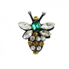 Bohin jewel sew-on with rhinestones - wasp