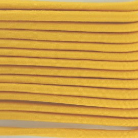 Rounded elastic thread 3 mm - yellow