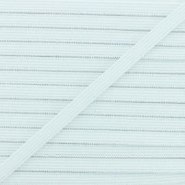 Elastique tissé blanc 10 mm