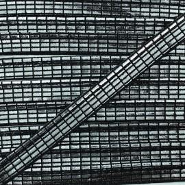 Passepoil spectacle - argent/noir x 1m