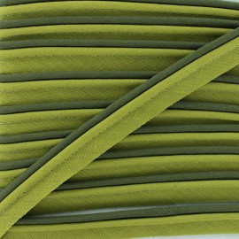 Two-tone Piping - Olive Green/lime tree