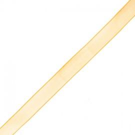 Organza ribbon 10 mm - maize