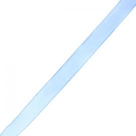 Organza ribbon 10 mm - blue