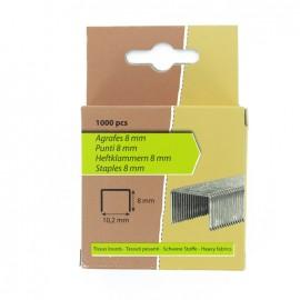 Agrafes 8 mm spécial tissus lourds