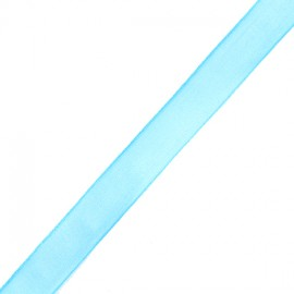 Organza ribbon 10 mm - turquoise