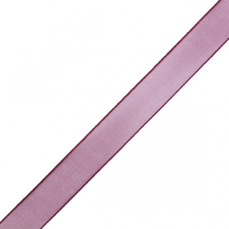 Organza ribbon 10 mm - burgundy