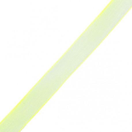 Organza ribbon 10 mm - yellow