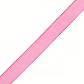 Organza ribbon 10 mm - raspberry