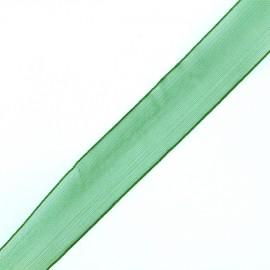 Muslin ribbon 15 mm - green tree