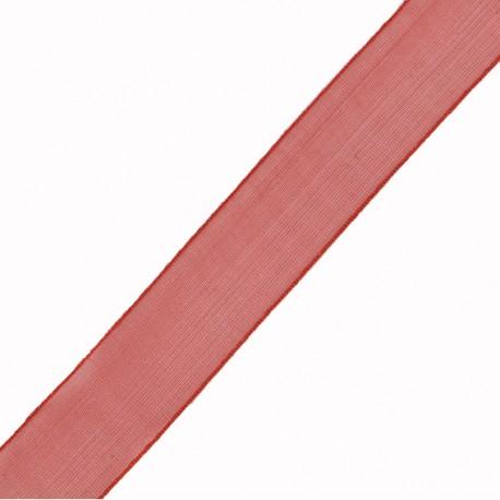 mousseline rouge 15 mm