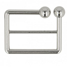 40 mm Joly metal belt buckle - nickel