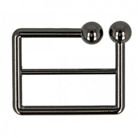 40 mm Joly metal belt buckle - black