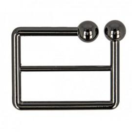 Boucle de ceinture métal Joly 40 mm - noir