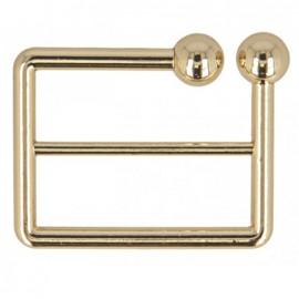 Boucle de ceinture métal Joly 40 mm - doré