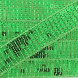 Galon paillettes vert 20/25 mm
