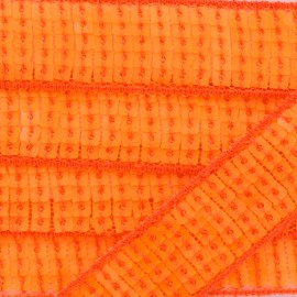 Galon paillettes Orange fluo x 50cm