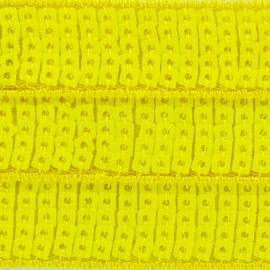 Sequins braid trimming x 50 cm - fluorescent yellow