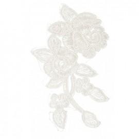 Écusson à coudre dentelle Rosaly - blanc
