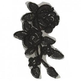 Écusson à coudre dentelle Rosaly - noir