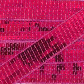 Galon paillettes Framboise x 50cm