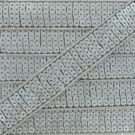 Galon paillettes gris clair mat 20/25 mm