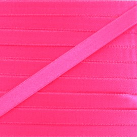 Satin ribbon - fluorescent pink