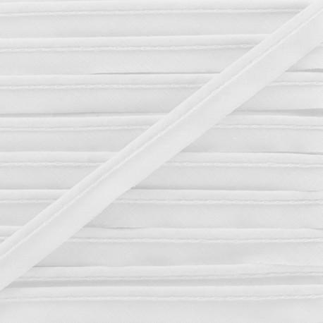 Passepoil tout textile blanc