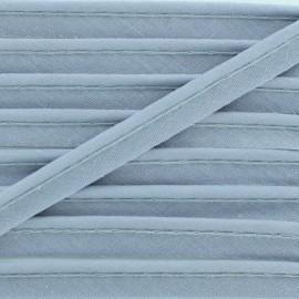 Passepoil tout textile gris clair