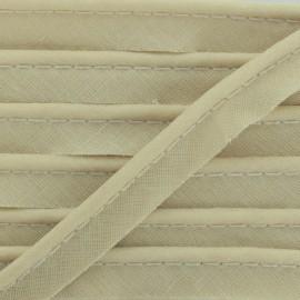 Passepoil tout textile beige