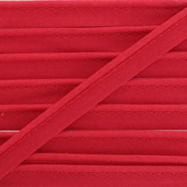 Passepoil tout textile rouge