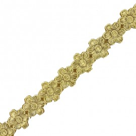 25 mm Bangalore iron-on guipure lace - gold x 50cm