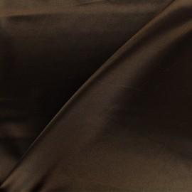 Tissu doublure Duchesse - marron x 10cm