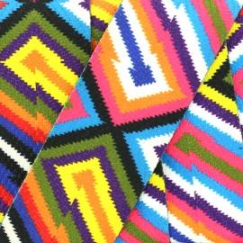 Sangle double face 50 mm Color Revolution- multi x 50cm